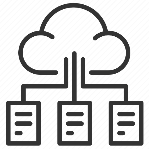 big, cloud, data, documents, files, massive, services icon