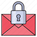 private, secure, email, protection, inbox icon