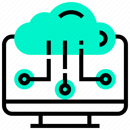 cloud, computer, computing, desktop, transfer icon
