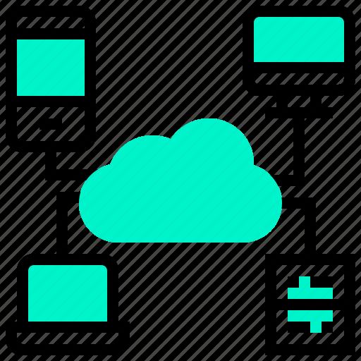 cloud, computer, computing, platform, smartphone icon
