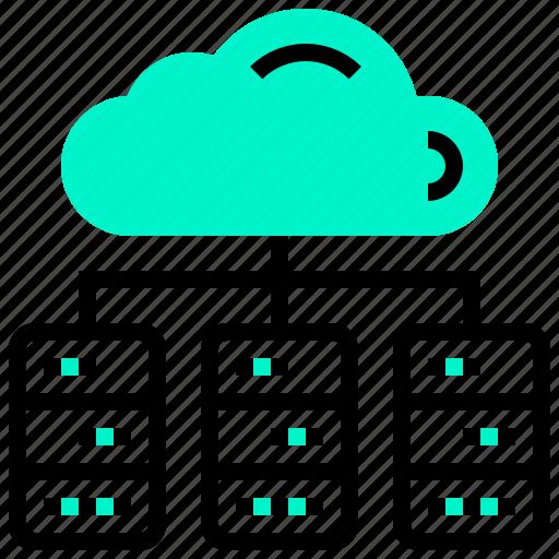 center, cloud, data, database, file icon