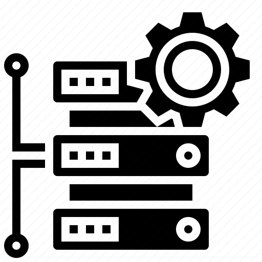 algorithm, data, database, gear icon