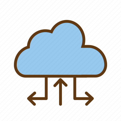 cloud computing, cloud database, cloud network, cloud server, cloud storage, online storage icon