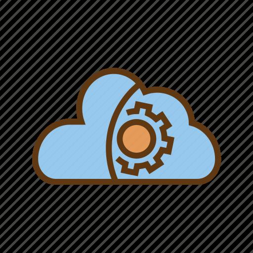 cloud maintanence, cloud optimization, cloud storage, data setting, preferences, seo icon