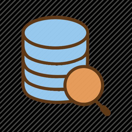 bigdata, global data, query data, search database, seo, serach data icon