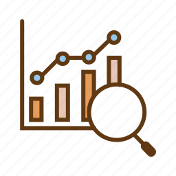bar chart, data analytics, evaluation, seo, statistics, utilization data icon