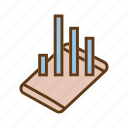 bar chart, buisness growth, data analytics, evaluation, seo, statistics, utilization data icon