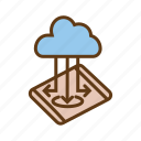 cloud storage, data transfer, database, mobile storage, online storage icon
