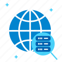 bigdata, global data, query data, search database, seo, serach data icon