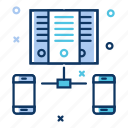 bigdata, cloud database, cloud server, data center, data server, hosting server, network icon