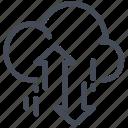 big data, cloud, sharing, traffic icon