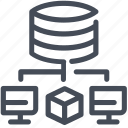 information, server, size, storage, volume icon