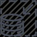 big data, scalability, scale, volume icon
