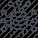 big data, cube, stack, storage icon