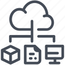 big data, cloud, transfer, variety icon