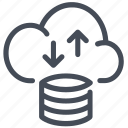 big data, cloud, server, storage icon