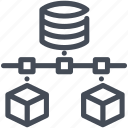 database, information, massive, server, storage icon