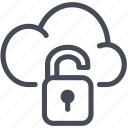 cloud, lock, private, secure icon