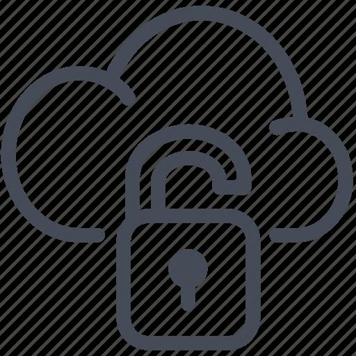 cloud, lock, private, secure icon