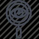 audit, eye, magnifier, search icon