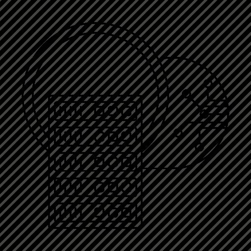 big data, cloud, information, server, storage icon