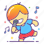 karaoke, music, orchestra, performer, sing, singer, song icon