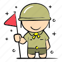 boy, camping, education, outdoor, safari, scout, survive icon