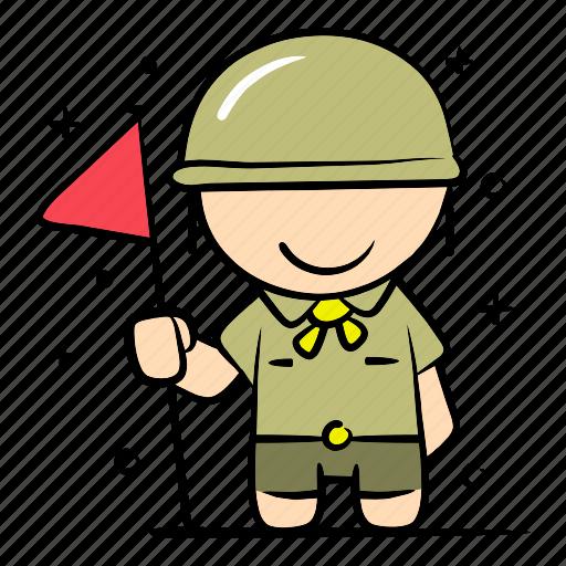 boy, camping, education, outdoor, safari, scout, survive icon