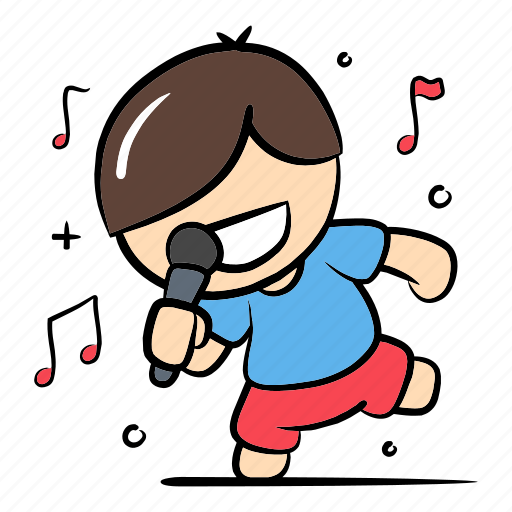 entertainment, karaoke, music, party, performer, singer, song icon
