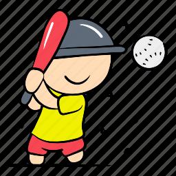 ball, baseball, boy, play, player, professional, sport icon