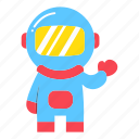 astronaut, astronomy, education, moon, pilot, science, spaceman icon