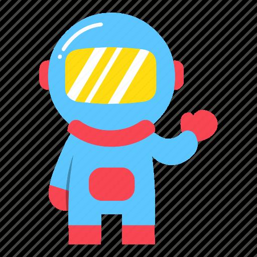 astronaut, astronomy, education, moon, pilot, science, spaceman icon