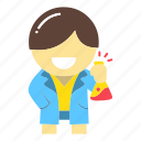 chemist, chemistry, doctor, laborant, science, scientist, test tube icon