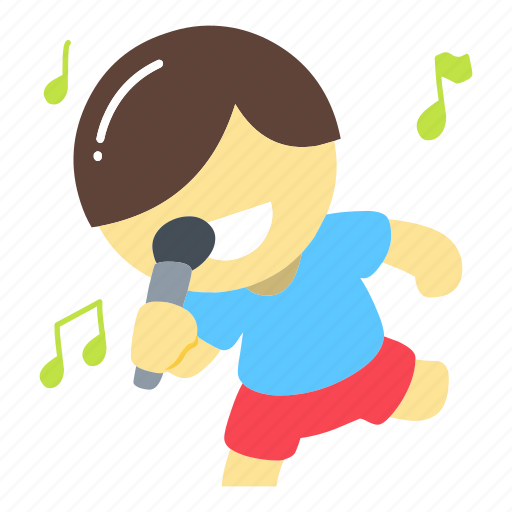 entertainment, karaoke, music, note, performer, singer, song icon