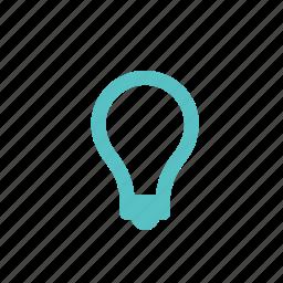 bulb, idea, illumination, lamp, light icon
