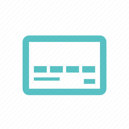 bank, card, credit, debit, money, payment, purchase icon