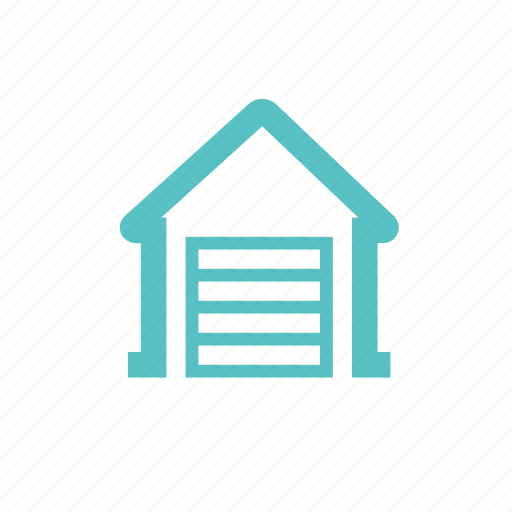 barn, booth, garage, house, parking, warehouse icon