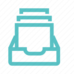 archive, data set, email, file, folder, inbox, notification icon