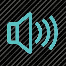 louder, sound, turn on, volume icon