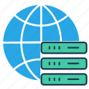 bigdata, data center, global server, global storage, hosting server, main server icon