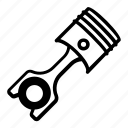 connecting rod, engine, equipment, piston, piston rod icon