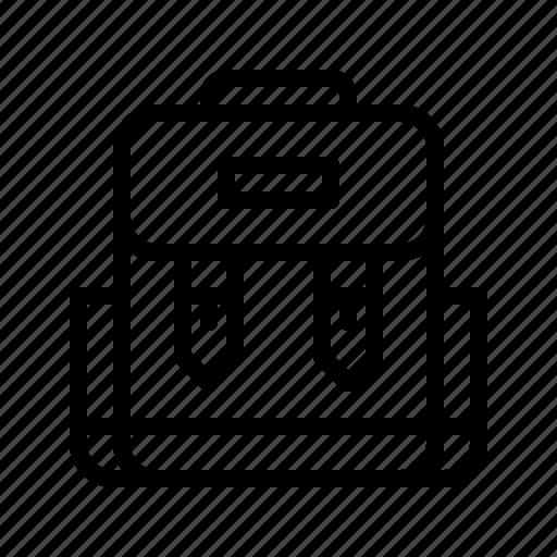 Backpack, knapsack, outdoor, pack, rucksack icon - Download on Iconfinder