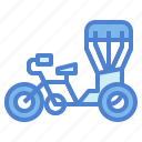 motorbike, thai, transportation, tricycle, vehicle icon