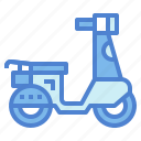 motorcycle, scooter, transport, vespa icon