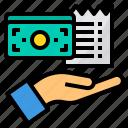 bill, business, cash, invoice, money, payment, receipt