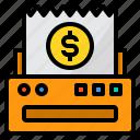bill, business, invoice, money, payment, print, receipt