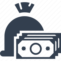 bag, banking, billing, bills, cash, credit, deposit, finance, money, pay, payment icon
