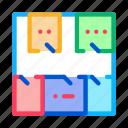 axis, bim, breakdown, document, geodetic, plan, research icon