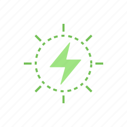 electricity, energy, green, storm icon