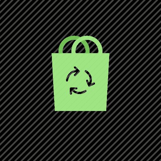 bag, bio, ecologic, green, recycle icon